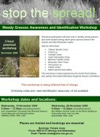 Weed Grass Workshops are held